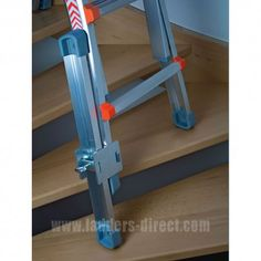 This can be used to provide variable height adjustment on an individual ladder leg allowing the ladder to be used as a lean-to ladder on a slope or stairway. Garage Tools, Car Tools, Diy Garage, Construction Tools, Tools Hardware, Metal Tools, Home Tools, Homemade Tools, Scaffolding