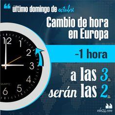 Cambio de hora en Europa (hora de invierno)