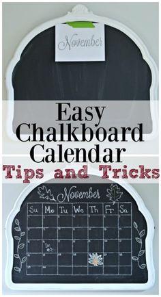 How To Turn A Mirror Into A Chalkboard. Chalkboard CalendarKitchen ...