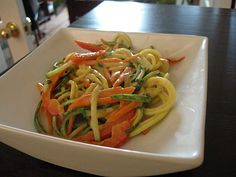 Raw Peanut Noodles, and Kitchen Musings