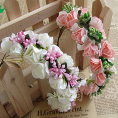 7.04$  Watch now - http://vimcm.justgood.pw/vig/item.php?t=swweeco55297 - Boho Floral Flower Headband Garland Hair Head Band Wedding Hoop 7.04$