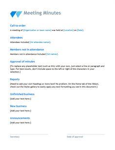Management Summary Template Custom Meeting Minutes  Templates  Meet  Pinterest  Template .