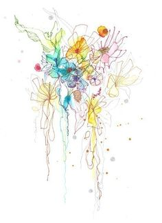 ART giclee PRINT 8.5x11 from mix media watercolor by siiso, $25.00