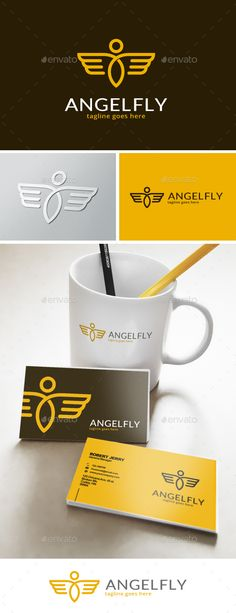 Angel Fly Logo — Vector EPS #website #angel • Available here → https://graphicriver.net/item/angel-fly-logo/13357406?ref=pxcr