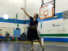 One of our level G students dancing in an outreach at a local elementary school