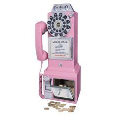 Crosley 1950's Pay Phone - Pink (CR56-PI)