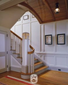 In design, as in life, the difference between good and great is the attention to detail. Shingle Style Architecture, Interior Styling, Interior Design, Building Contractors, Home Board, Log Homes, Stairs, House Styles, Watch