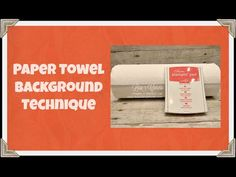 Quick Crafting Tip - Paper Towel Background Technique Stampin' Up!, card, paper, craft , paper, scrapbook, craft, rubber stamp, hobby, how to, DIY, handmade, Lisa Curcio, No Bones About It, Gift From the Garden, direct to paper, www.lisasstampstudio.com