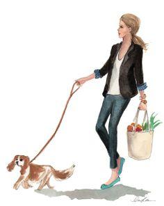 Inslee - walking the dog