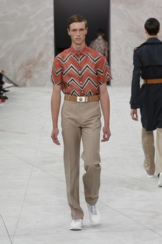 Look 7 from the Louis Vuitton Men's Spring/Summer 2015 Fashion Show.