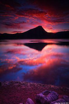 Autumn Sunrise - Lake Estes Park, Colorado