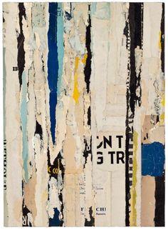 """Lisa Hochstein, Parts of speech–22  12"""" x 16""""  salvaged paper"""
