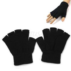 >> Click to Buy << 2017 New Arrival HOT 1Pair Men's Cold Winter Gift Hand Warm Knit Fingerless Gloves Short Free Shipping  #Affiliate