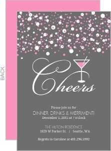 Raise Your Glass Surprise Party Invitations New Years