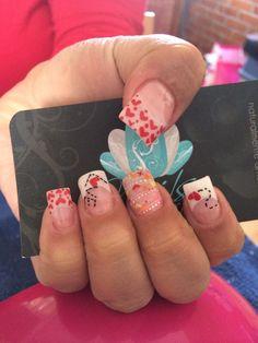 Nails art, acrylic nails, love nails
