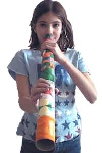 FREE Didgeridoo Craft Idea~  Recycled paper tubes, white paper, crayons, and some transparent tape is all you need to make these easy, fun Northern Australian instrument originally made from branches hollowed out by termites.  The longer the tube, the deeper the sound!