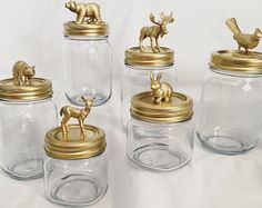 gold home accents Gold Animal Jars Thrift Store Crafts, Diy Crafts To Sell, Mason Jar Crafts, Mason Jars, Asian Decor, Diy Home Decor, Diy Projects, Decoration, Things To Sell