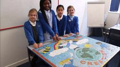 School mosaics by Mosaic Artist Sue Kershaw