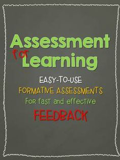 Easy-to-use checklists for formative assessment