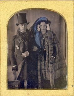 Daguerreotype of Couple in Winter Clothes, ca. 1840s Via: Jackie Smith on Pinterest