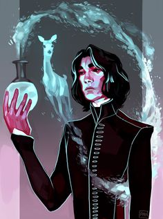 Severus Snape by Aïcha Sarah Wijland Fanart Harry Potter, Tshirt Harry Potter, Wallpaper Harry Potter, Arte Do Harry Potter, Harry Potter Severus Snape, Severus Rogue, Harry Potter Artwork, Albus Dumbledore, Harry Potter Love