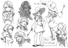 Little Witch Academia (リトル ウィッチ アカデミア)Little witches for Halloween! The November issue of Animage Magazine (Amazon JP   US) showcased Yoh Yoshinari's character designs for the new Enchanted Parade...