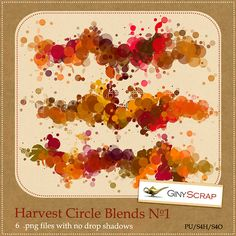 Harvest Circle Blends No.1 by Giny Scrap  https://zigzagscrap.com/store/Harvest-Circle-Blends-No.1-by-Giny-Scrap.html