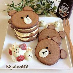 Comida divertida Comida divertida para niños grandes y pequeños Cute Food, Good Food, Yummy Food, Tasty, Kreative Desserts, Pancake Art, Pancake Ideas, Chocolate Pancakes, Cake Chocolate