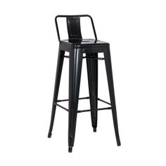 Xavier Pauchard Tolix Style Metal Bar Stool with Low Backrest, Rustic Size: Bar Metal, Metal Bar Stools, Buy Bar Stools, Counter Stools, Bar Counter, Modern Cafe, Thing 1, Rubber Flooring, Antique Metal