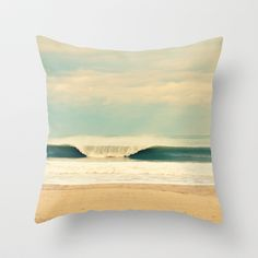 Winter Wave Throw Pillow by RDelean - $20.00