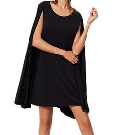 Cape Dress #fashion #winter #dress #black #cape