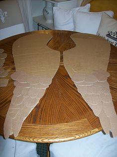 asas de papelao, como fazer
