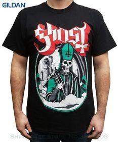 Men's T-shirts Summer Style Fashion Swag Men T Shirts. Ghost Men's Secular Haze T-shirt Black