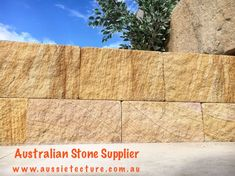 Aussietecture natural stone supplier has a unique range natural stone products for walling, flooring & landscaping. Sandstone Cladding, Natural Stone Cladding, Natural Stone Wall, Natural Stones, Sandstone Fireplace, Sandstone Wall, Sandstone Paving, Stone Landscaping, Stone Supplier