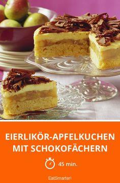 Eierlikör-Apfelkuchen mit Schokofächern - smarter - Zeit: 45 Min. | eatsmarter.de
