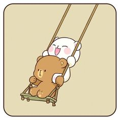 ✔ Cute Quotes About Happiness Couple Cute Love Pictures, Cute Cartoon Pictures, Cute Couple Cartoon, Cute Love Cartoons, Cute Love Gif, Cute Bear Drawings, Kawaii Drawings, Chibi Cat, Cute Chibi
