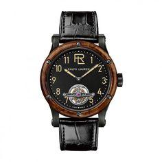 See the Ralph Lauren RL Automotive Tourbillon - watch - Movement : Self-winding mechanical - Case : Steel Ralph Lauren Love, Black Stainless Steel, Rose Gold, Watches, Leather, Accessories, Animal Kingdom, Menswear Trends, Gq