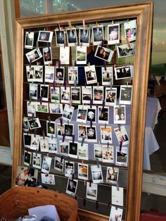 Wedding instant photo guest book! Instax camera, Instant camera. Polaroid guestbook.