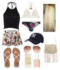 """""""Untitled #172"""" by veggieranch on Polyvore featuring American Eagle Outfitters, Billabong, SHE MADE ME, MINKPINK, Hartford, Sonix and Essie"""