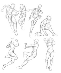 Practice by Anthony Amorose on ArtStation. Figure Sketching, Figure Drawing Reference, Art Reference Poses, Drawing Sketches, Art Drawings, Drawing Body Poses, Poses References, Art Poses, Drawing Base