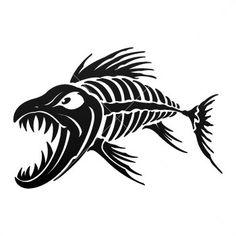 Aggressive Fish Skeleton 06101