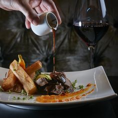 """Don't you just want to shout """"supercalifragilisticexpialidocious"""" from the London rooftops? 😋 Brand new flavors are dripping with excitement at The Queen's Gate Hotel New Menu, New Flavour, Restaurant Bar, Gate, Beef, Canning, Hotel Food, Rooftops, London"""
