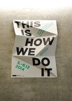 Typography, poster, print, folder paper in Design