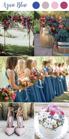 9 Most Popular Blue Wedding Color Palettes for Your Big Day What's your ceremony and reception color palette? As we know wedding color trends are const.<br> What's your ceremony and reception color palette? As we know wedding color trends are const. February Wedding Colors, May Wedding Colors, Popular Wedding Colors, Blue Wedding, Dress Wedding, Wedding Flowers, Trendy Wedding, Spring Wedding Colors Blue, Spring Wedding Themes