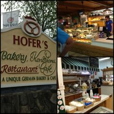 Had lunch here -- great Oompa band, cold beer and hot pastrami! ~LK Hofers Bakery in Helen, GA