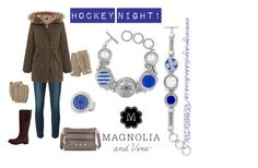 """Magnolia and Vine Hockey Night in Canada!"" by magnoliaandvine on Polyvore support your team on the ice! www.mymagnoliaandvine.ca/ROBBIKIRK/ and contact Roberta Kirk at www.facebook.com/mymagnoliaandvinerobbikirk"