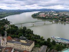 Bridge of Maria Valeria which connects Esztergom (HU) and Štúrovo (SK)