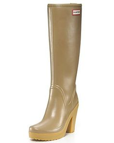 Rain boots are not really my thing. But, I would rock these. Hunter Rain Boots - Lonny High Heel | Nordstrom's