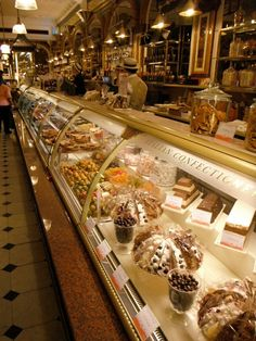 Harrod's, London, the food court. Flapjacks anyone?