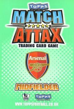 2010-11 Topps Premier League Match Attax #11 Samir Nasri Back